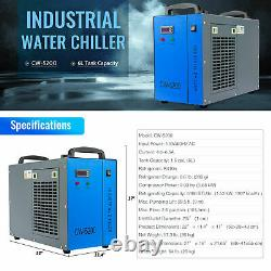 150W 63x40 CO2 Laser Engraver Cutter with CW-5200 Water Chiller & Lightburn