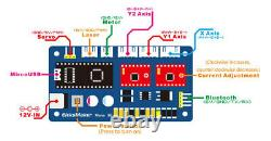 2 Axis Stepper Motor Driver Controller Board For DIY Laser Engraver + USB Cable