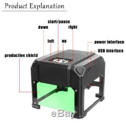 2000mW USB Desktop Laser Engraving Cutting Machine DIY Logo Printer CNC Engraver