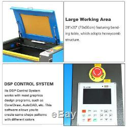 20x28 60W CO2 Laser Engraving Machine Laser Engraver Cutter With USB Interface