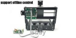 3 Axis DIY CNC 1610-PRO Router Mini Wood Carving Engraving Machine+2500mW Laser