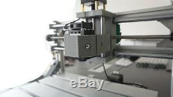 3 Axis DIY CNC Router Kit Wood Carving Engraving Milling Machine+5500mw Laser
