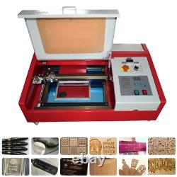 40W CO2 12''x8'' Laser Engraving machine with Wheels & LCD Screen K40 USB port