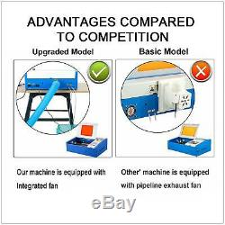 40W CO2 Laser Engraver Crafts Cutter Cutting Machine Upgraded 128 with USB