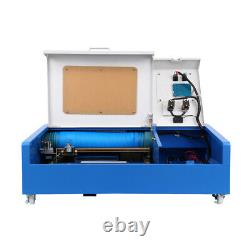 40W CO2 Laser Engraver Cutting Machine Cutter USB Interface 12X8 With 4 Wheels