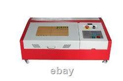 40W CO2 Laser Engraving Machine with Wheels & LCD Screen 12''x8'' K40 Usb Port