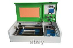40W CO2 USB Laser Engraving 300200mm and Cutting Machine + 4 Rounds