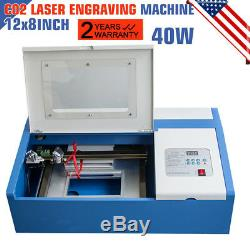 40W CO2 USB Laser Engraving Cutting Machine Engraver Wood Cutter USA STOCK
