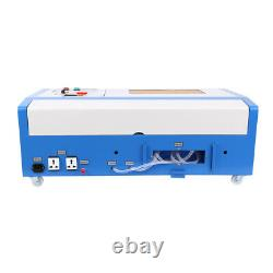 40W CO2 USB Laser Engraving Cutting Machine Wood Cutter 12''x8 With 4 Wheels