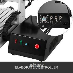 4Axis CNC Router 3020 Laser Engraver 3D Woodworking Milling Carving 500W Desktop
