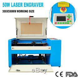 50W CO2 Laser Engraving Cutting Machine Engraver Cutter USB Port with Rotary Kit