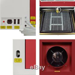 60W 220V CO2 Laser Engraving Machine Cutter Woodworking Glass Acrylic
