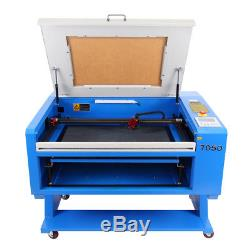 60W CO2 USB Laser Engraving&Cutting Machine 700X500MM CW-3000AG Water Chiller
