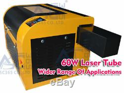 60W CO2 USB Laser Engraving Cutting Machine Engraver Cutter Red-dot Position New