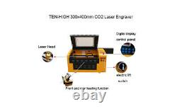 60W Upgraded USB 400300MM Co2 Laser Engraving Cutting Machine Engraver Cutter