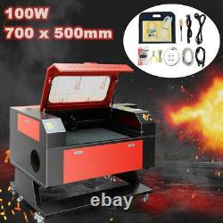 700500mm 100W Laser Engraving Machine CO2 Engraver Cutter Electric Lifting USB