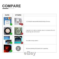 8X12 40W CO2 Laser Engraving Cutting Machine LCD Red Dot Pointer USB Port New