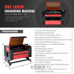 CO2 28 x 20 80W Laser Engraver Cutter With Cylinder Rotary Attachment & Ruida