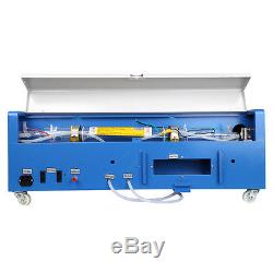 CO2 40W 110 Laser Engraving Cutting Machine Laser Engraver USB Port with Wheels