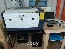 CO2 Laser Cutter Engraver Machine 60W collection only full working 40x60