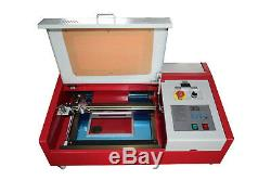 CO2 USB 40W Laser Engraving and Cutting Machine + 4 Rounds 300200mm