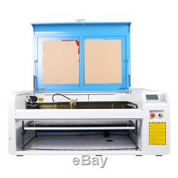 HL-060 100W Co2 USB Laser Cutting Laser Machine &CW5200 Chiller& 80F Rotary Axis
