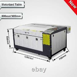 Hot 80W RUIDA Co2 Laser Cutting&Engraving Machine With Motorized Table 16''x24'