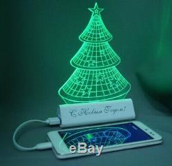 LED laser engraving base portable powerbank USB charger external battery 2100mAh
