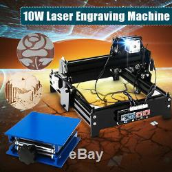 Laser Engraver 10W 20x14cm USB Desktop Stone Wood CNC Marking Engraving Machine