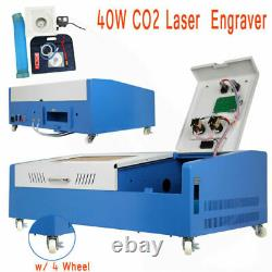 Laser Engraving Cutting Machine 40W USB CO2 12'' x 8'' Movable With Wheel