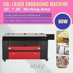 MF-2028-80E CO2 LASER ENGRAVING CUTTING MARKING MACHINE WITH 28x20 USB PORT 80W
