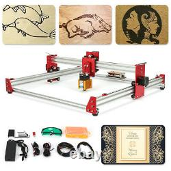 New 5500mw DIY Laser Engraver Machine 4545 Engraving Machine 2Axis Wood Router