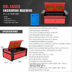OMTech 150W 63x40in CO2 Laser Engraver Cutter with Water Chiller w Rotary Axis C