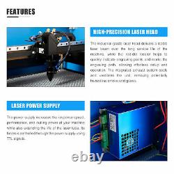 OMTech 20x12 50W CO2 Laser Engraver Cutter with 9L Water Chiller Rotary Axis
