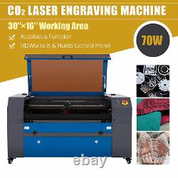 OMTech 70W 30x16in CO2 Laser engraver Cutter Etcher with Autofocus Motorized Bed