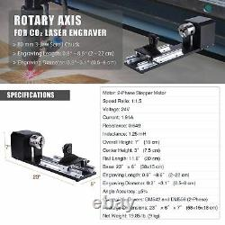 OMTech CO2 Laser Engraver Cutter 70W 30x16in Autofocus with Rotary Axis B 3 Jaw