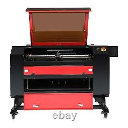 OMTech Upgraded CO2 Laser Engraver Cutter with Rotary Axis Ruida 80W 28x20