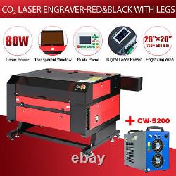 Preenex 28× 20 80W CO2 laser Engraver Cutter Ruida with CW-5200 Water Chiller