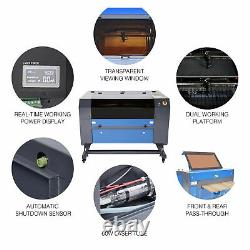 Preenex 28 x 20 inch 60W CO2 laser Engraver Cutter with Rotary Axis 0.4-6 Dia
