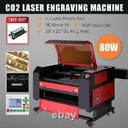 Preenex 80W 28 × 20 CO2 Laser Engraver Cutter with Cylinder Rotary Attachment