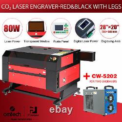 Preenex Ruida 28× 20 80W CO2 laser Engraver Cutter with CW-5202 Water Chiller