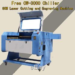 Promotion! 80W CO2 USB Laser Engraving Cutting Machine & Free CW-3000 Chiller