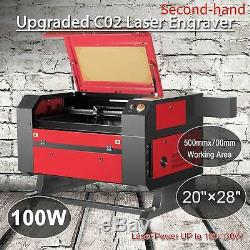 Secondhand 100W CO2 USB Laser Engraving Cutting Machine Engraver Cutter 70x50cm
