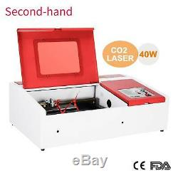 Secondhand 40W CO2 USB Laser Engraving Cutting Machine Engraver Cutter 300x200mm