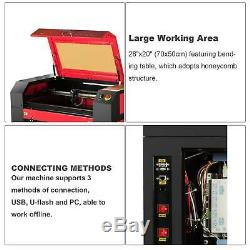 Secondhand 70x50cm 100W CO2 USB Laser Engraving Cutting Machine Engraver Cutter