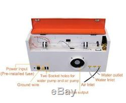 TEN-HIGH CO2 40W 110/220V Laser Engraving Cutting Machine with USB port