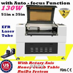 US 51x35 EFR 130W CO2 Laser Cutting machine with Auto-focus Function USB port