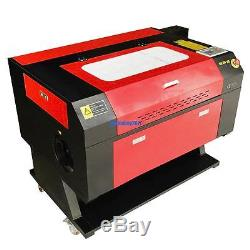 USB 100W Laser Engraving Cutting Machine CO2 Cutter with Water Chiller Rotary Axis