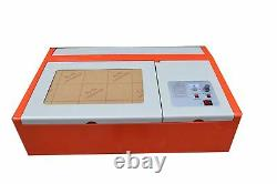 USB 40W CO2 Laser Engraving Cutting Machine Laser Engraver 12 x 8 inches