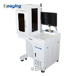 USB 50W fiber laser metal marking machine with enclosed cover deep engraving